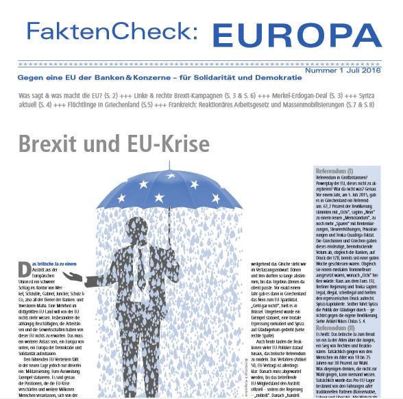 FaktenCheck:EUROPA #1, Juli 2016: Titel
